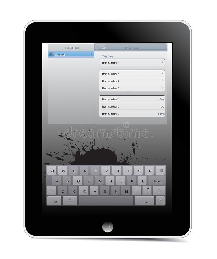 Download Vector  i-pad editorial stock photo. Image of palm, white - 14348923