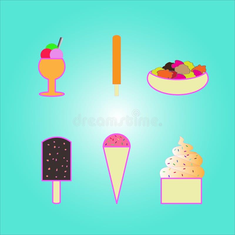 Vector ice cream stock photography