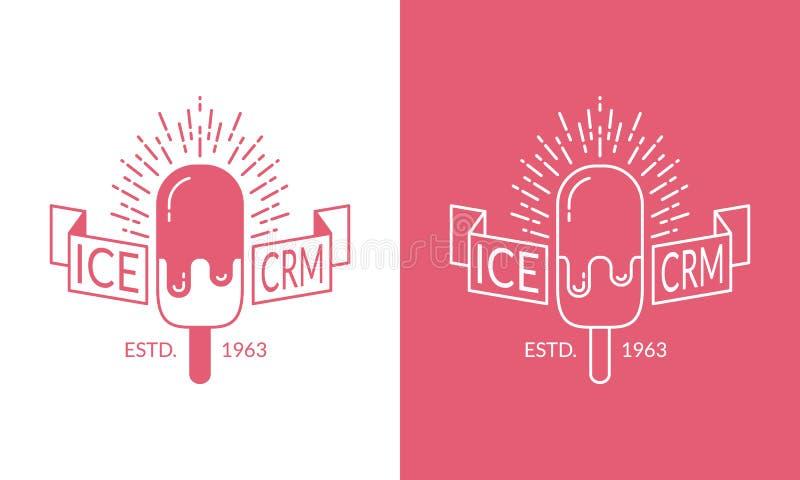 Vector Ice Cream Label, Badge Stock Vector - Illustration of gourmet ...