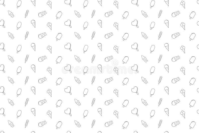 Vector Ice cream pattern. Vector Ice cream pattern . Ice cream seamless background stock illustration