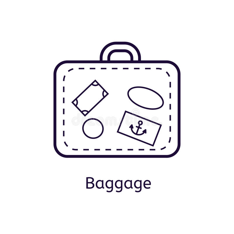 Vector icon of baggage on a white background. royalty free illustration