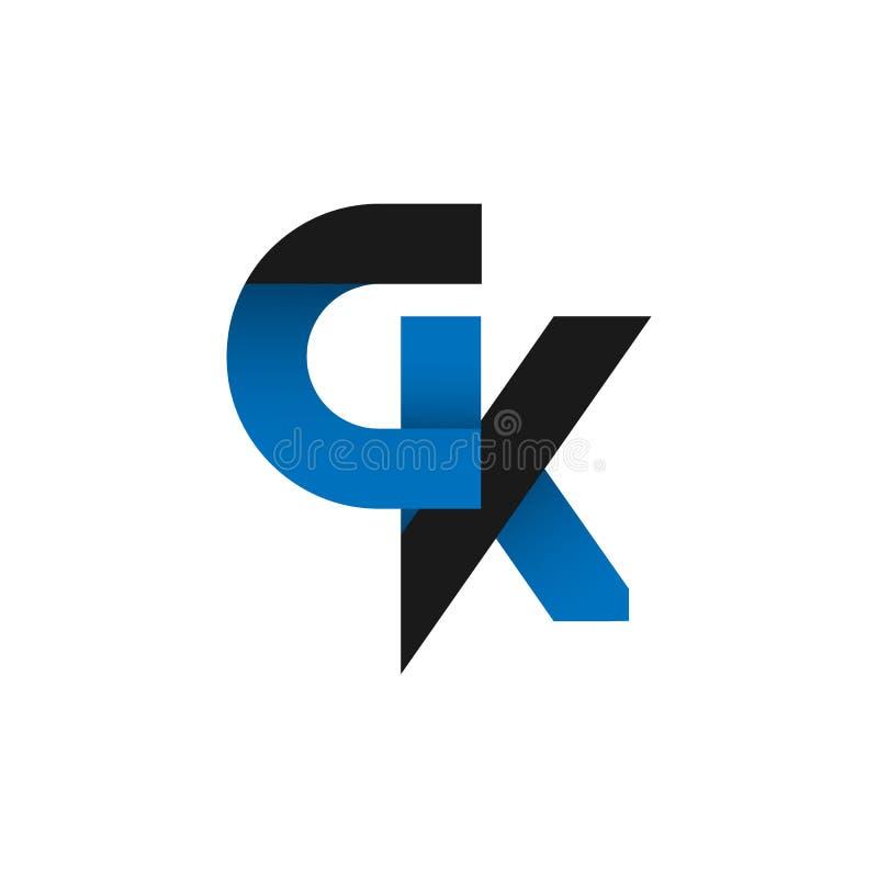 abstract letter gk logo design idea stock illustration rh dreamstime com gk logo design ideas gk logo design ideas