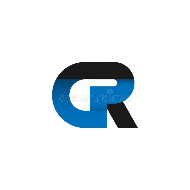 Abstract letter GR logo design idea. vector illustration