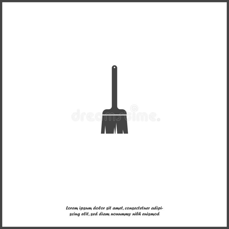 Vector icon brush painter. Builder brush on white isolated background vector illustration