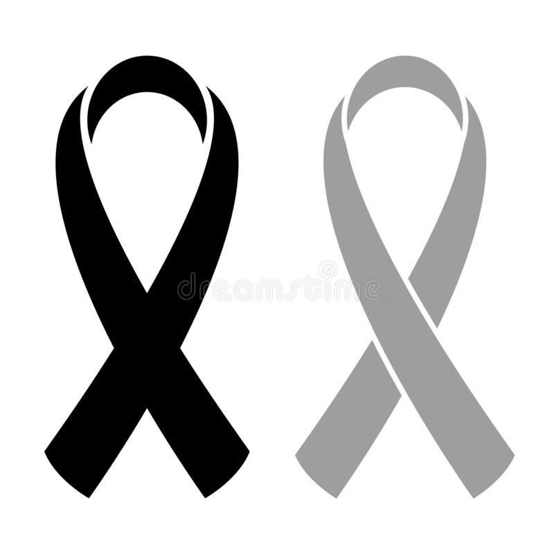 Vector icon of cancer awareness ribbon vector illustration