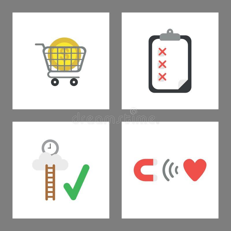 Vector icon concept set vector illustration