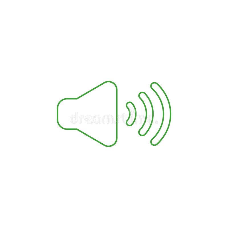 Vector icon concept of sound on. Color outlines. Vector illustration icon concept of sound on. Color outlines vector illustration