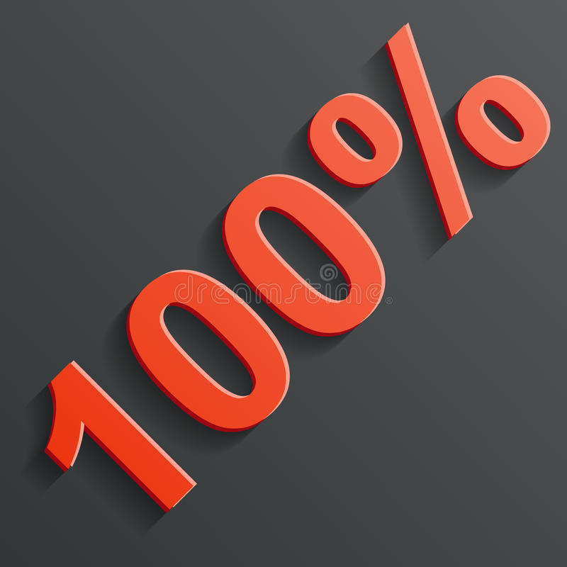 Vector Icon Of The 100  Royalty Free Stock Image