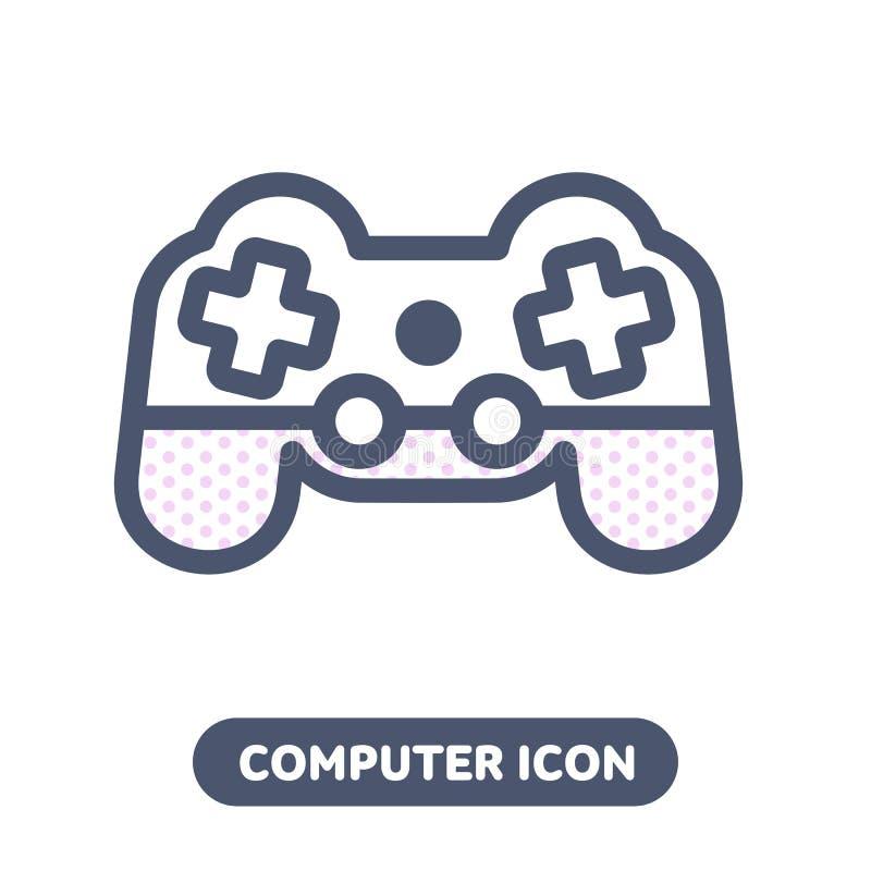 Vector icon game pad joystick vector illustration