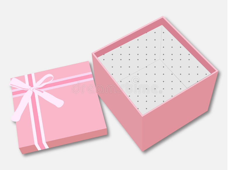 Vector Of Icon Gift Box royalty free stock photography