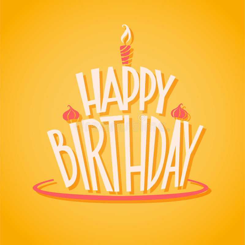 Vector icon Happy Birthday stock photo