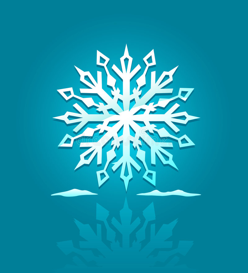 Vector icon of ice snowflake royalty free illustration