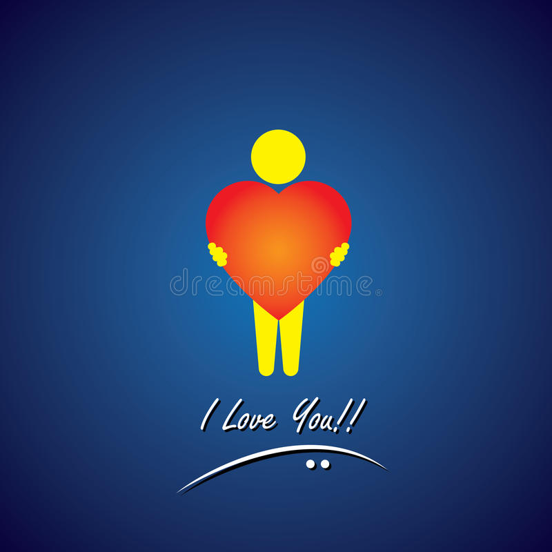Vector icon of love, compassion, empathy & care royalty free illustration