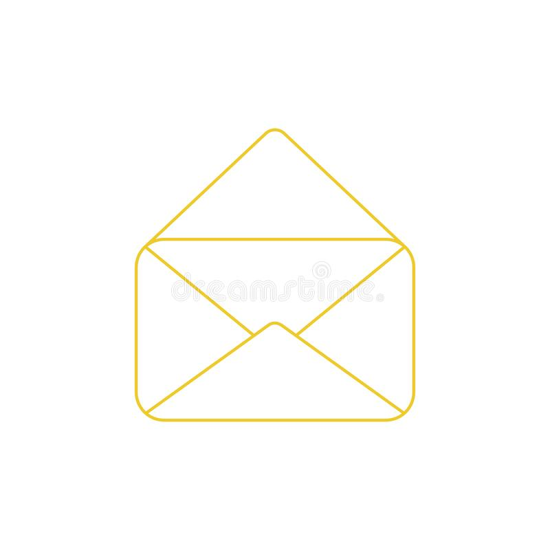 Vector icon of opened mail envelope vector illustration