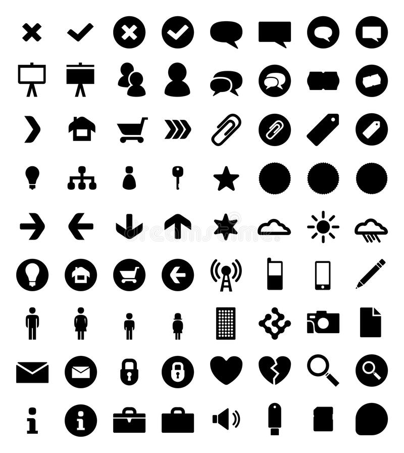Vector Icon Pack. 72 Vector icons, usefull for web and print design vector illustration