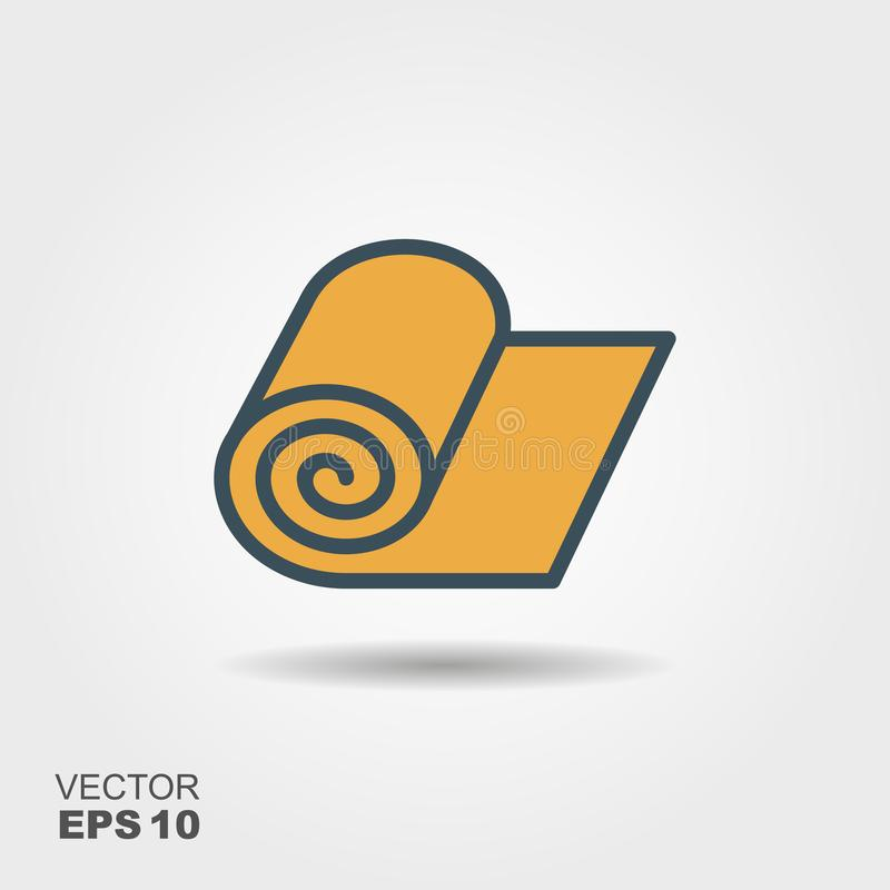 Vector icon of roll of fabric, paper or carpet roll stock illustration