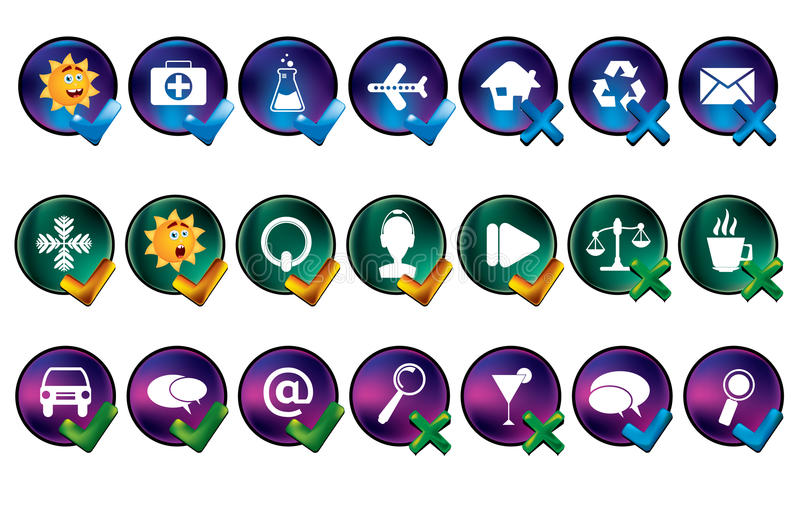 Download Vector Icon Set Stock Images - Image: 11707074