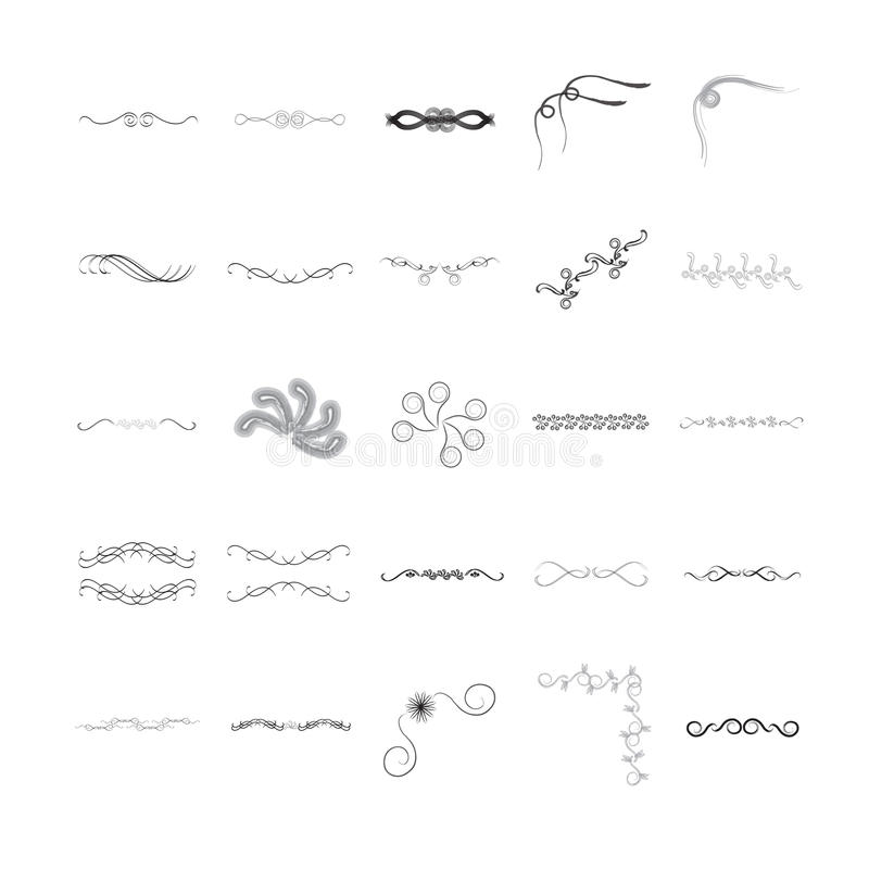 Vector icon set for designs royalty free illustration