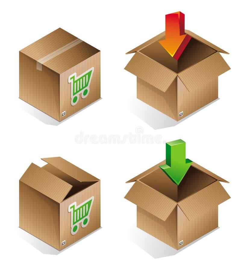Vector Icon Of Shipping Box Stock Vector