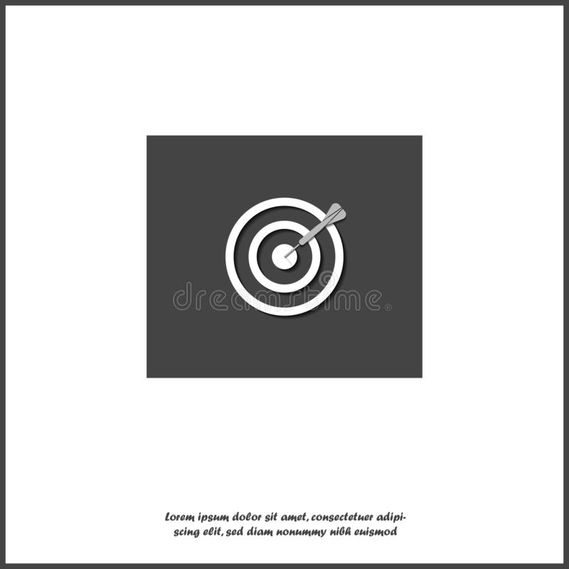 Vector icon target  with dart icon without focus on white isolated background. Layers grouped for easy editing illustration. For vector illustration