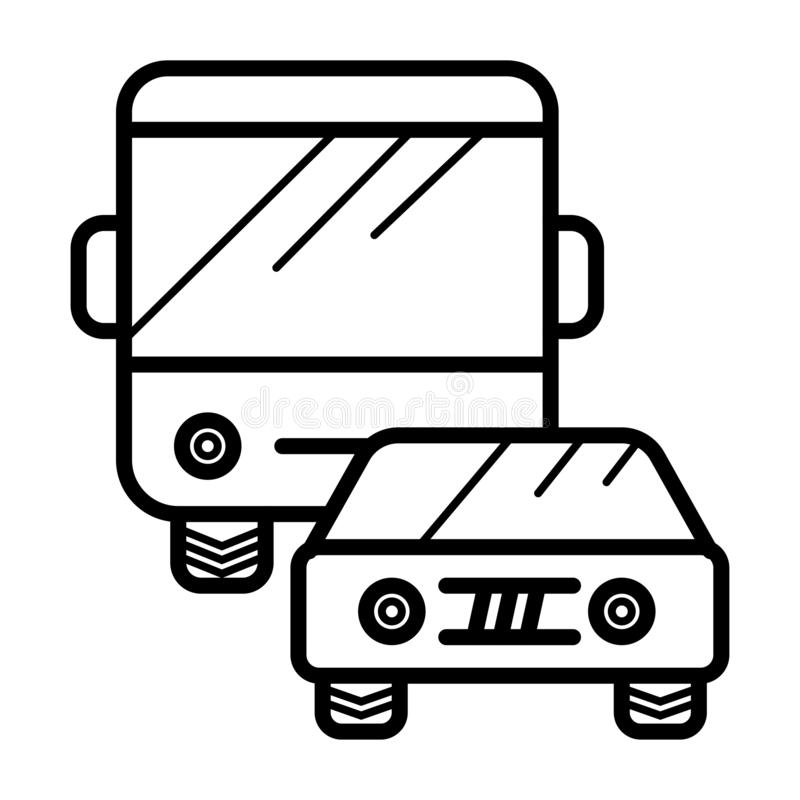 Vector icon for traffic. Illustration stock illustration