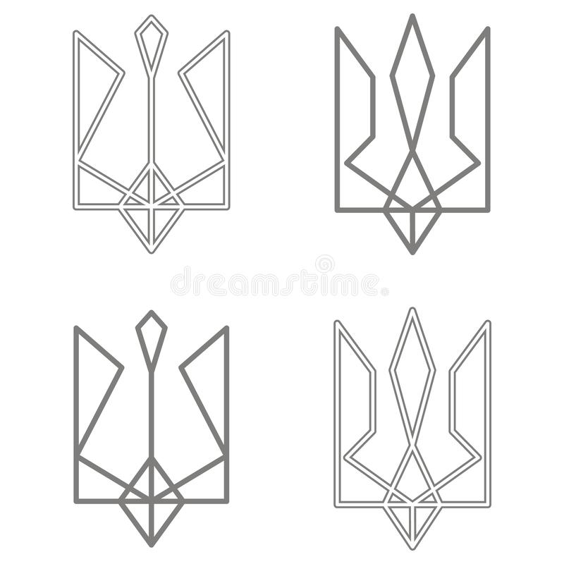 Vector icon with Ukrainian trident. For your design vector illustration