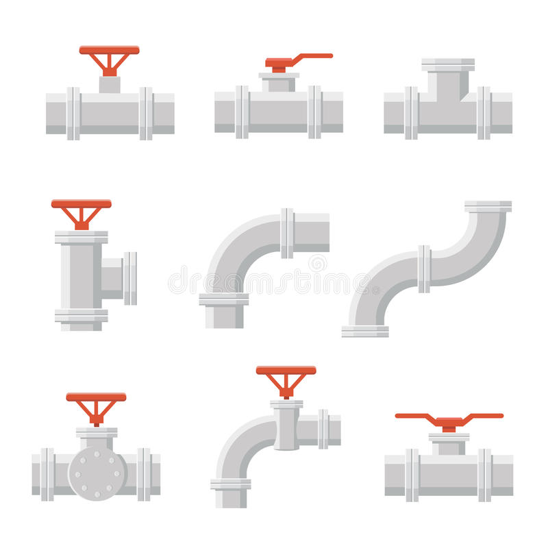 Vector icon of water pipe connector for plumbing and piping work. Vector icon of pipe connector for plumbing and piping work vector illustration
