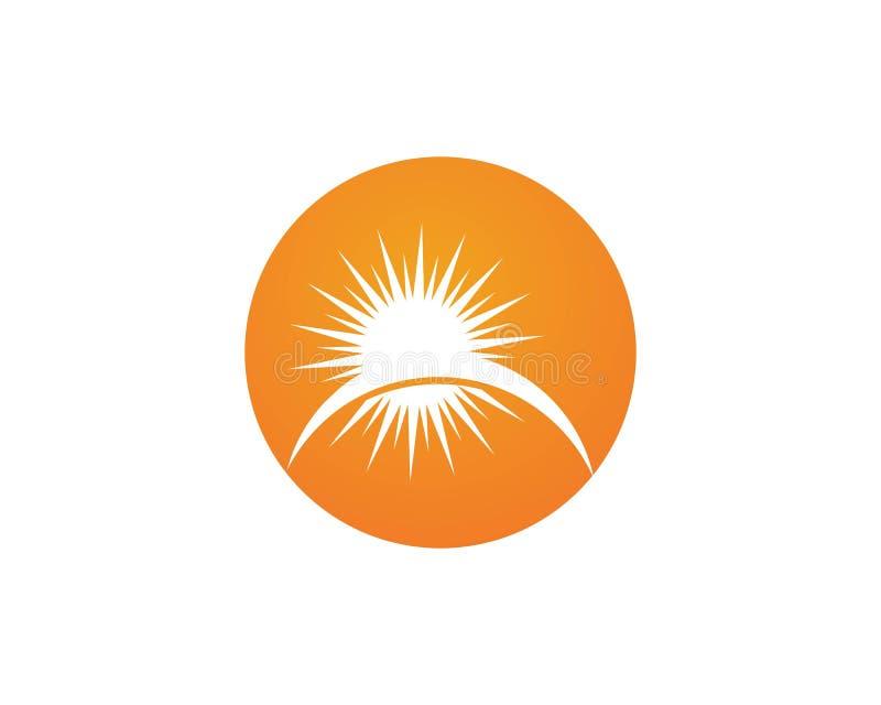 Vector - icono de la estrella de la explosión de Sun stock de ilustración