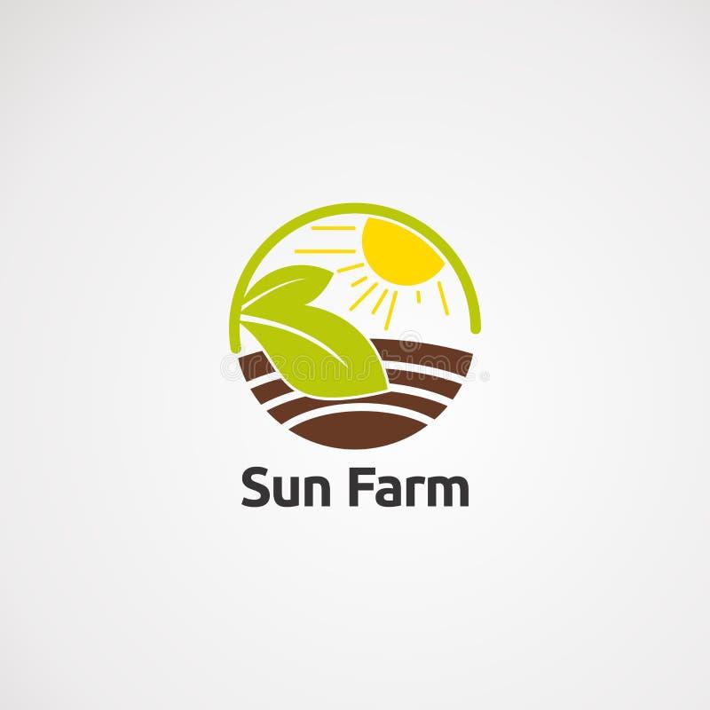 Vector, icono, elemento, y plantilla del logotipo del paño de la estrella para la compañía stock de ilustración