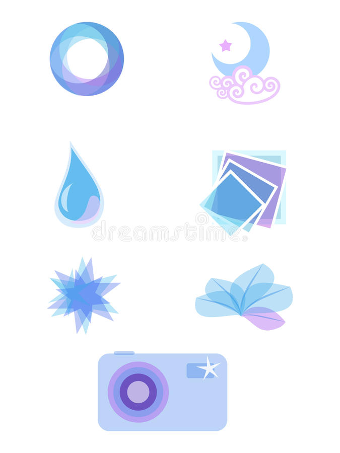 Download Vector icons stock vector. Image of camera, round, water - 15322660
