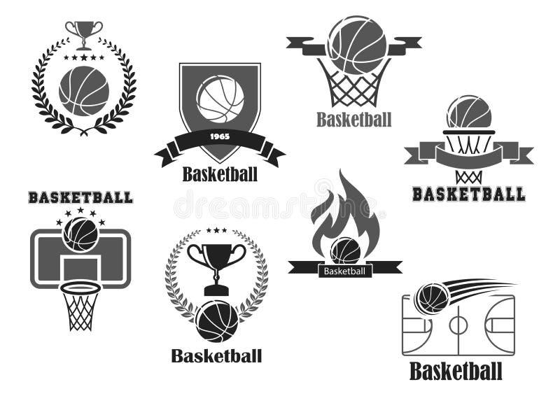 Vector Icons Of Basketball Championship Club Award Stock Vector