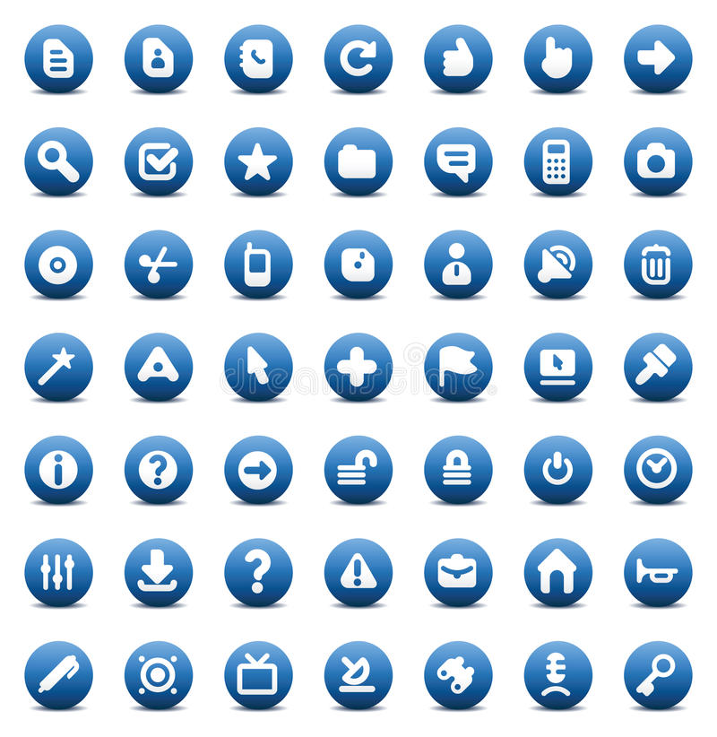 Vector icons for computer interface royalty free illustration