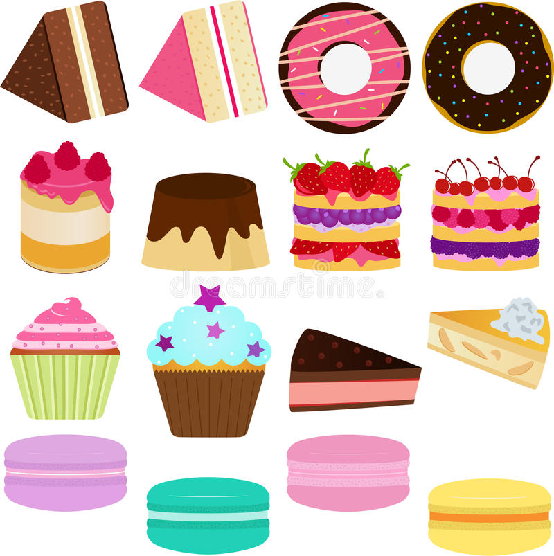 Vector Icons : Cute Sweet Cake vector illustration