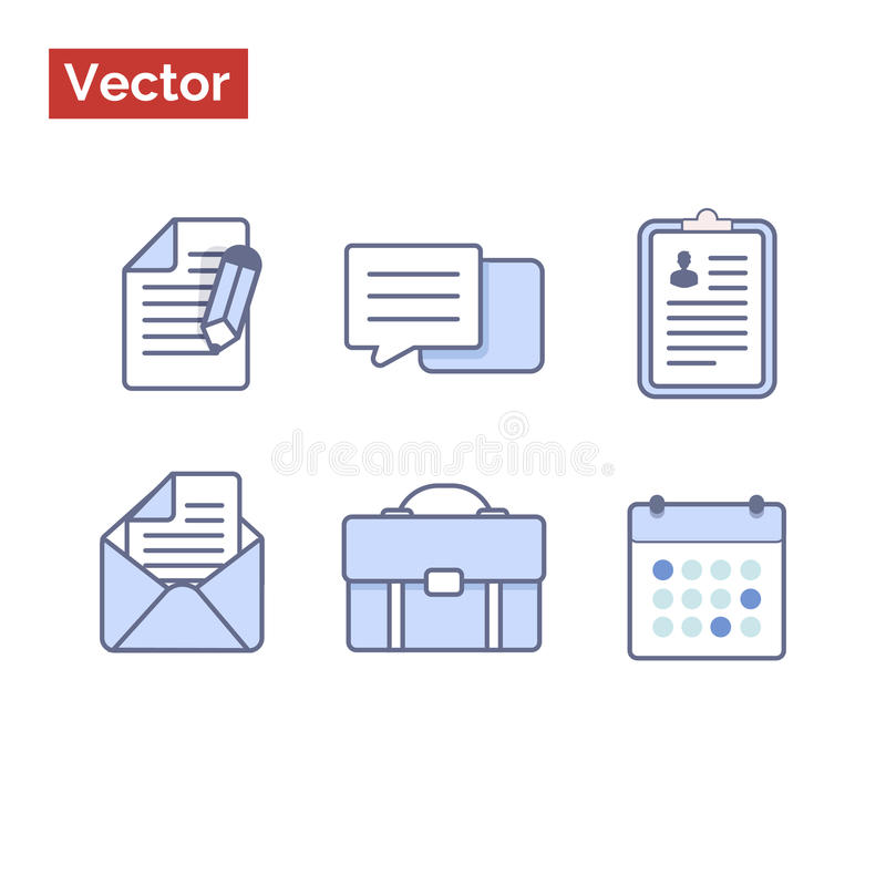 Vector icons flat style with outline. Very clean graphic illustration vector flat style for your landing page or commercial web site vector illustration