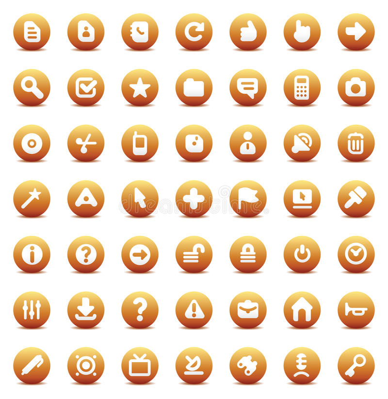 Vector icons for interface royalty free illustration