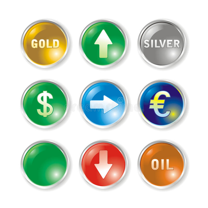 Download Vector Icons By Marks Rates Stock Vector - Image: 10435454