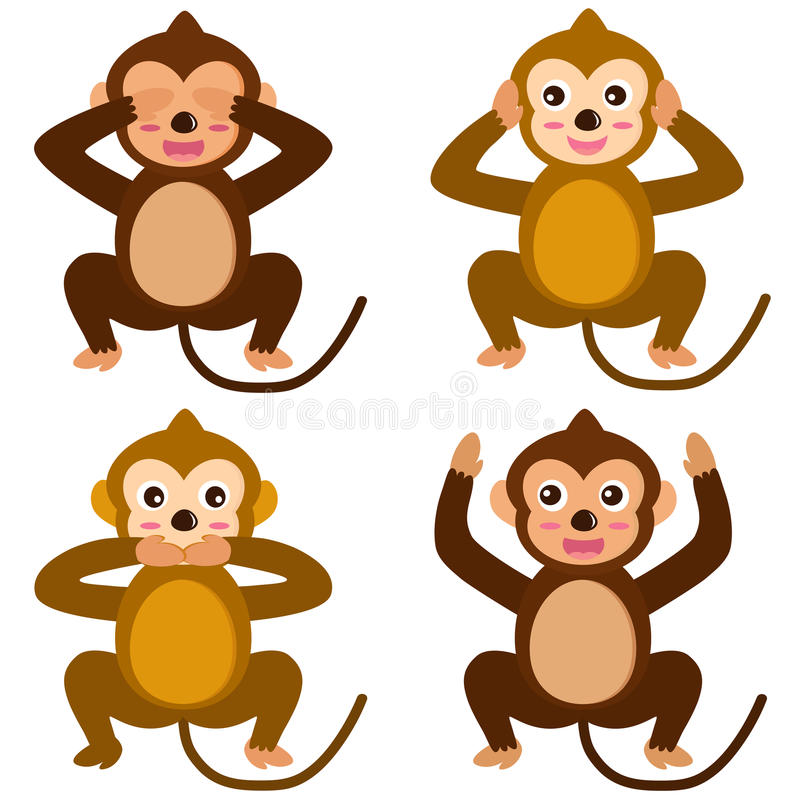 Download Vector Icons : Monkey - See Hear Speak No Evil Stock Vector - Image: 22226494