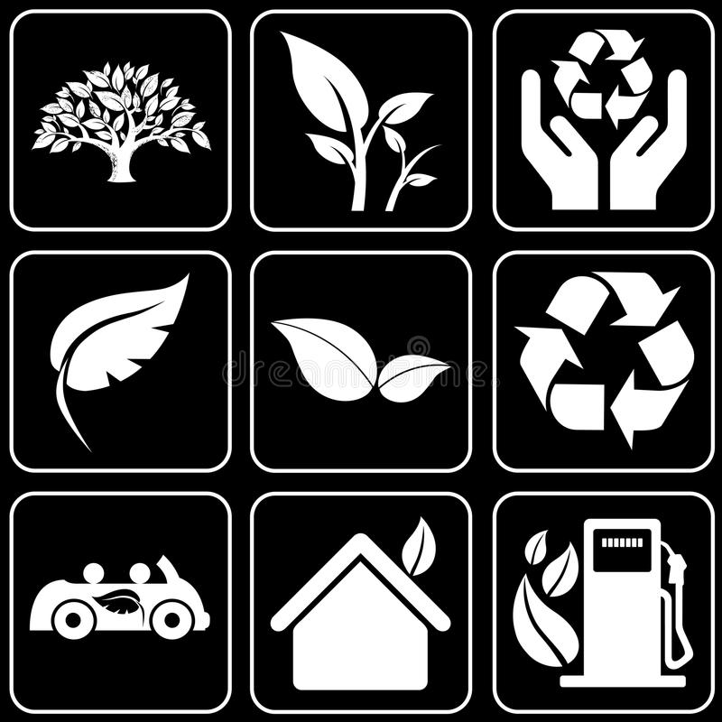 Vector icons - Nature, Ecology