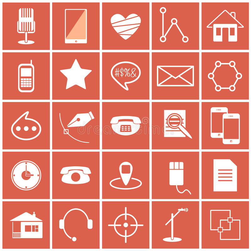 Vector icons science stock photography