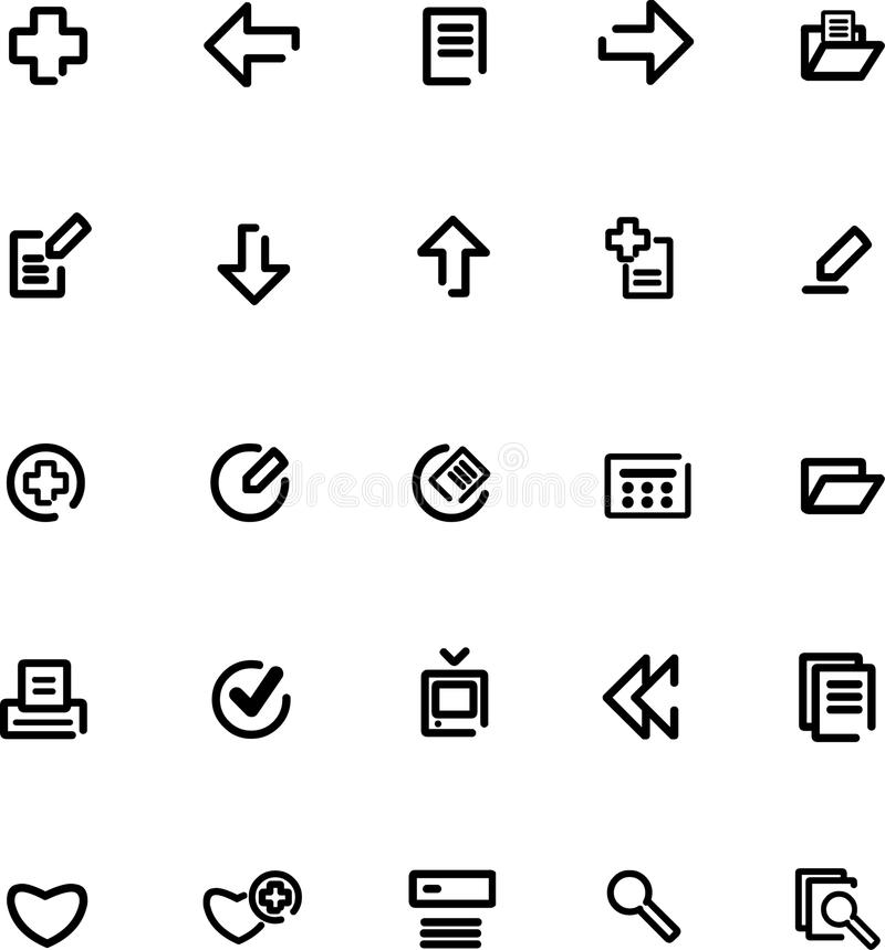 Download Vector icons set stock vector. Illustration of interface - 9979308