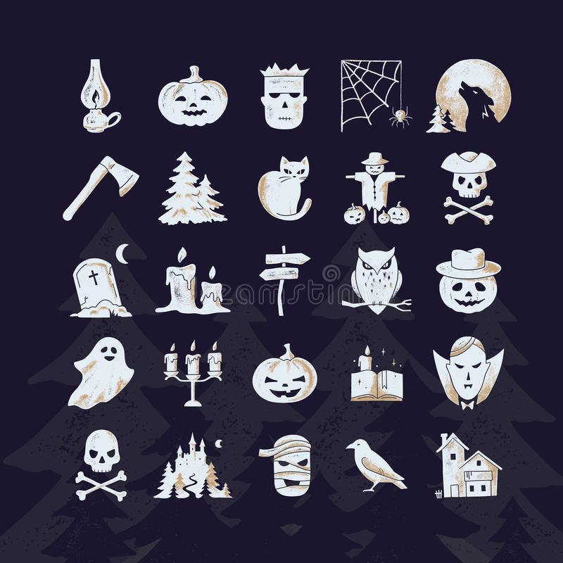 Vector template halloween happy card or banner stock illustration