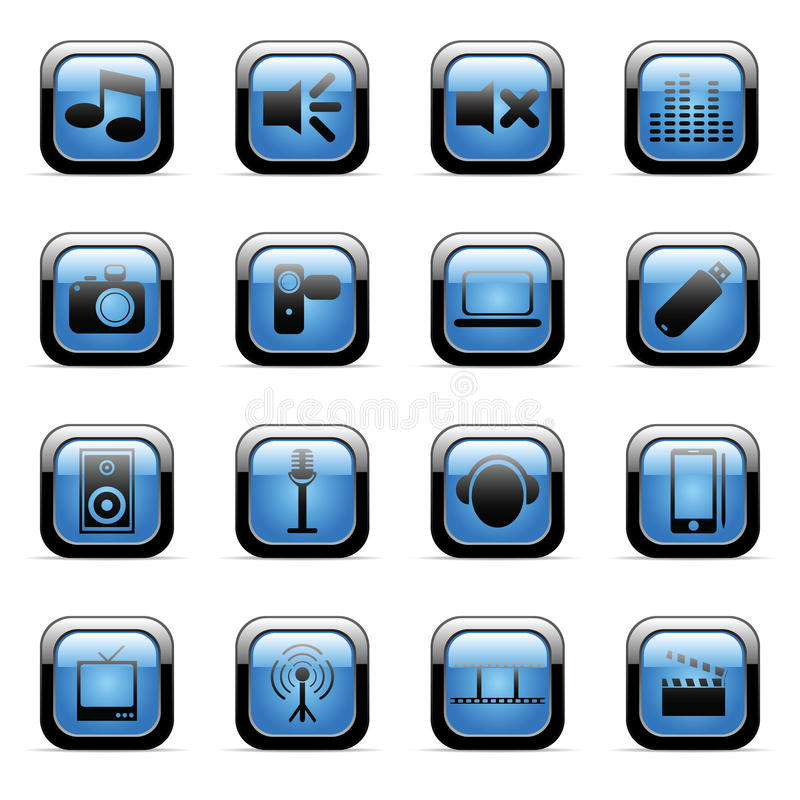 Download Vector Icons Set For Web Applications Stock Vector - Image: 13071775
