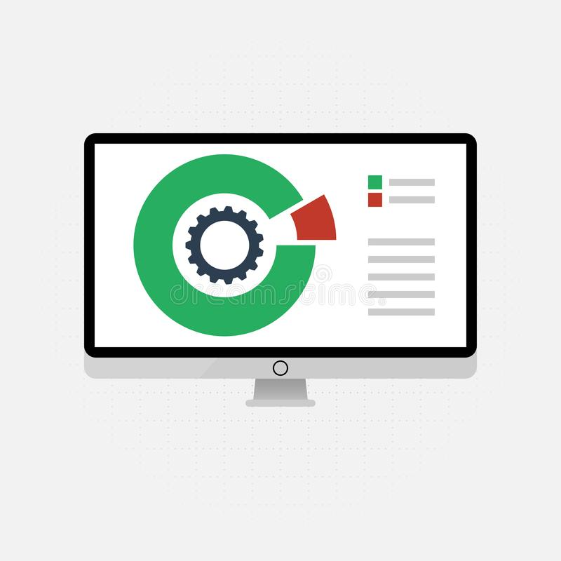 Vector icons and signs for the management and marketing concept of infographic of big data analysis and financial business stock illustration