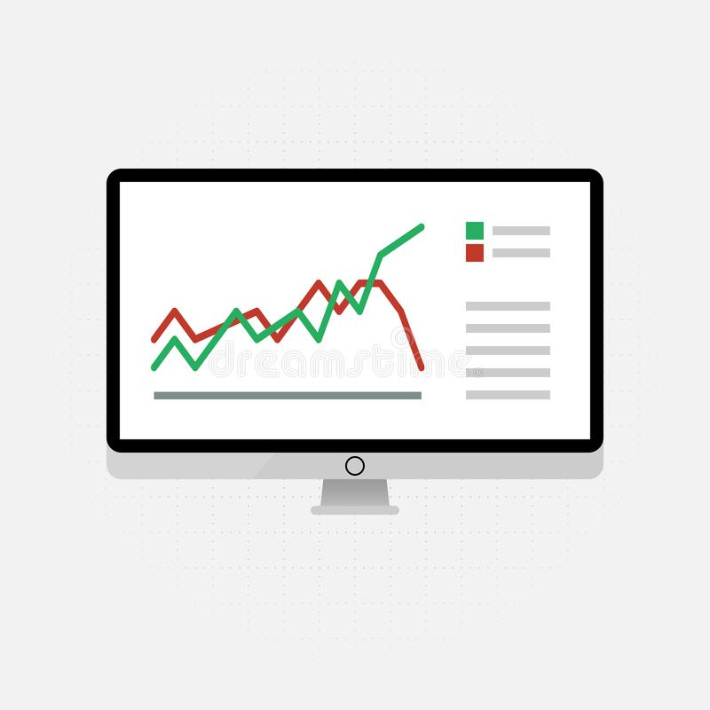 Vector icons and signs for the management and marketing concept of infographic of big data analysis and financial business vector illustration