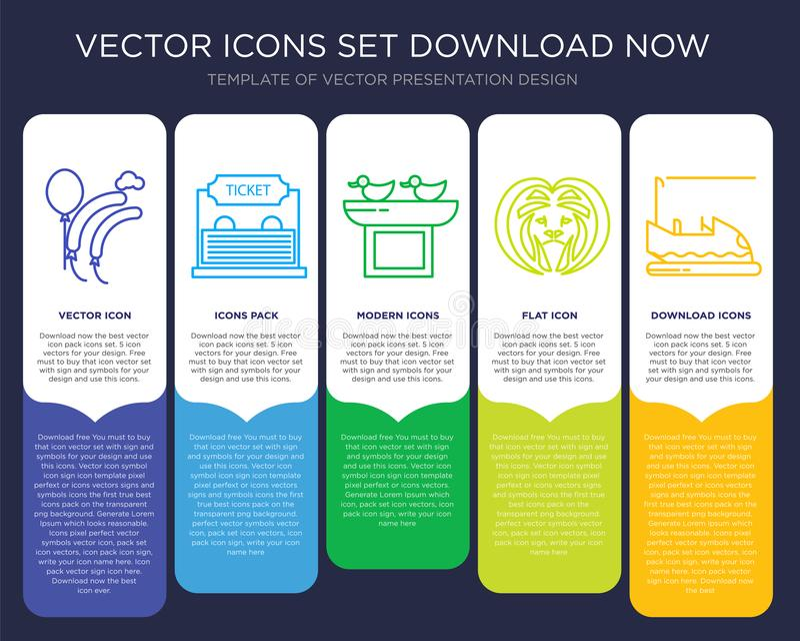 Balloons Infographics Design Icon Vector Stock Vector Illustration
