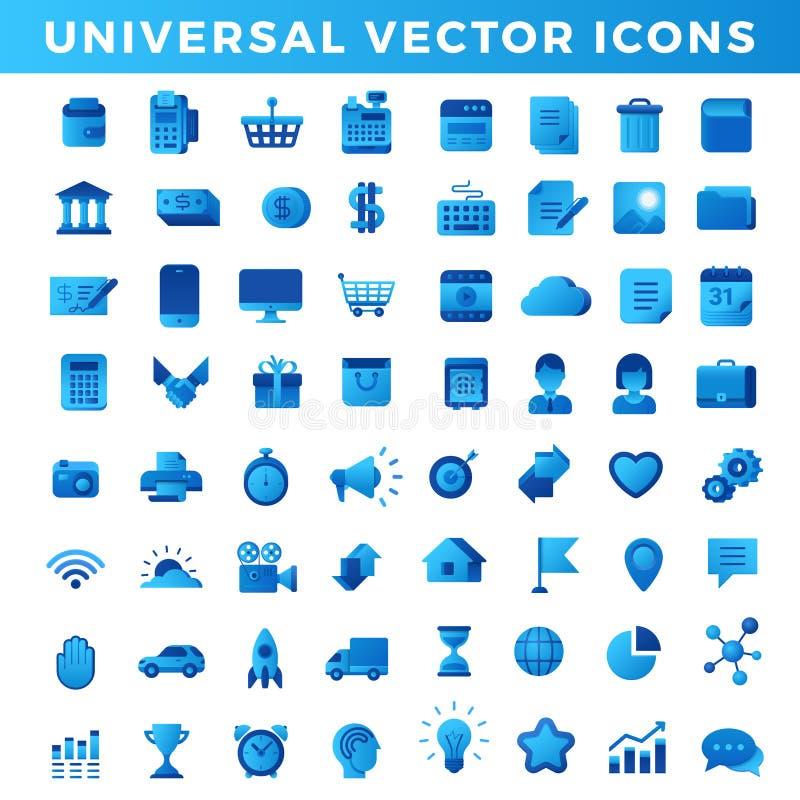 Vector icons Universal set. Business Finance Techn vector illustration