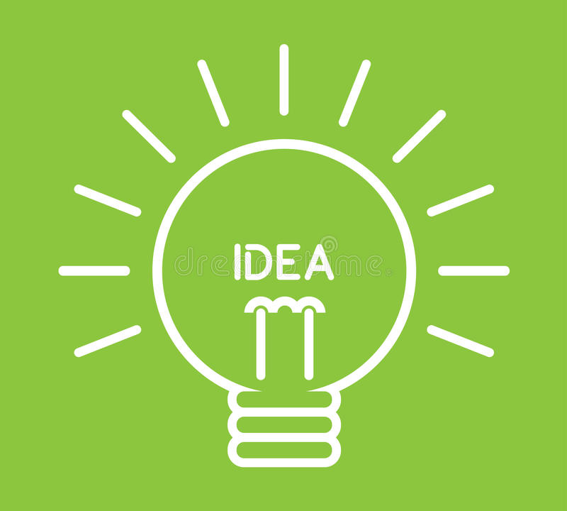Vector_Idea Lamp Stock Images