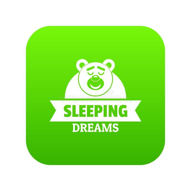 Vector ideal del verde del icono el dormir libre illustration