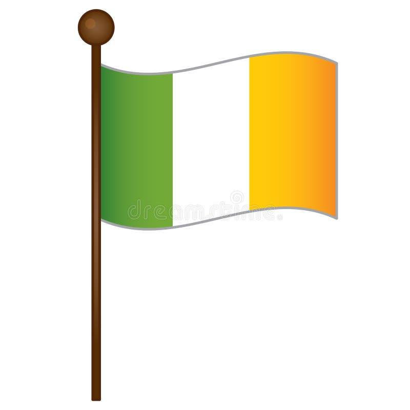 Vector Ierse vlag Iers vlagbeeld Ierse vlag vectorillustratie royalty-vrije illustratie