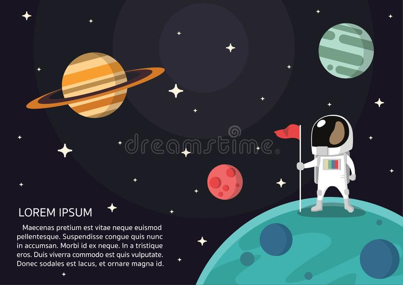 Vector III van de astronautenpresentatie royalty-vrije illustratie